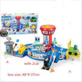Christmas gift Toy Children Patrulla Canina Toys Patrol Puppy Command Center Assembly Vehicle Parking Lot Centro De Mand DE8