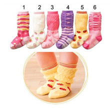 children's baby bottoming socks warm socks red, white and purple yellow Wholesale and retail WS521