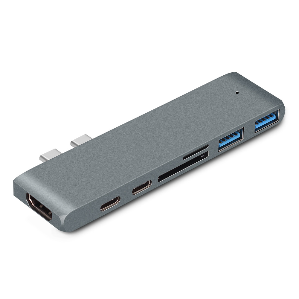 Image 5 - USB 3.0 Type C Hub To HDMI Adapter 4K Thunderbolt 3 USB C Hub with Hub 3.0 TF SD Reader Slot PD for MacBook Pro/Air 2018-in USB Hubs from Computer & Office