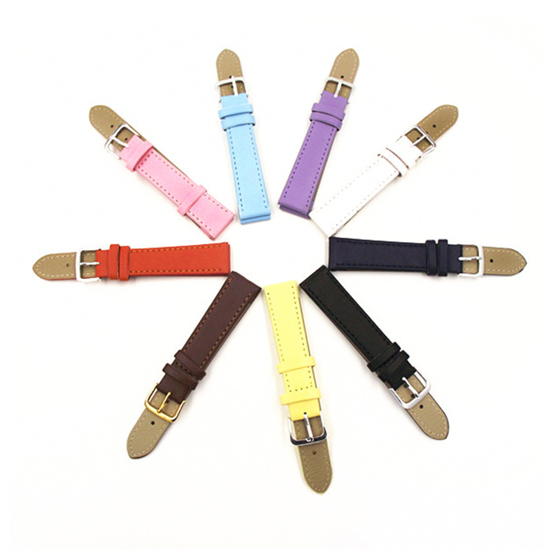 Plain weave PU leather strap Watchband 12mm, 14MM, 16MM, 18MM, 20MM watch band 2016 new Candy colors clock Straps for watches
