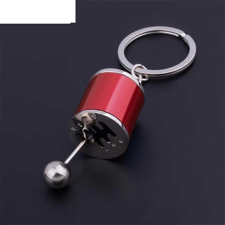 Key chains แหวน 3 สี Key 2017 เกียร์ Shift Stick กล่องโลหะ Key Chain Keyfob พวงกุญแจรถ ov27
