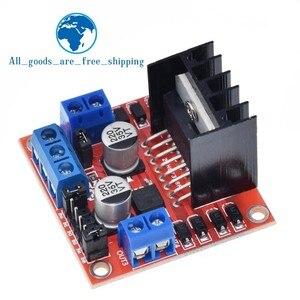 Image 4 - Tzt 10個新デュアルhブリッジdcステッピングモータドライブコントローラボードモジュールL298N arduinoのスマートカーロボット