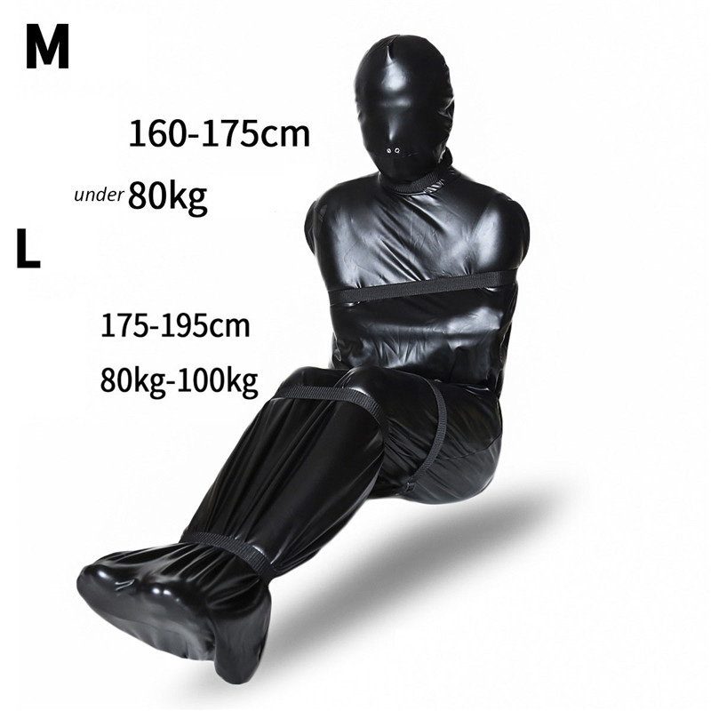 Latex bondage sack
