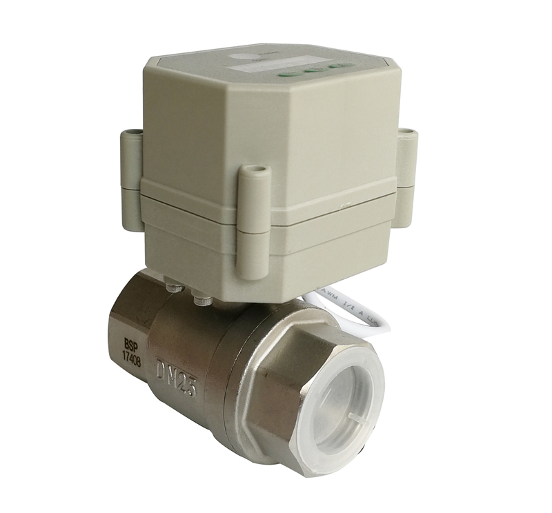 1'' NPT/BSP stainless steel full port timer control electric ball valve AC/DC9-24V time set valve to open and closed ac110 230v 5 wires 2 way stainless steel dn32 normal close electric ball valve with signal feedback bsp npt 11 4 10nm