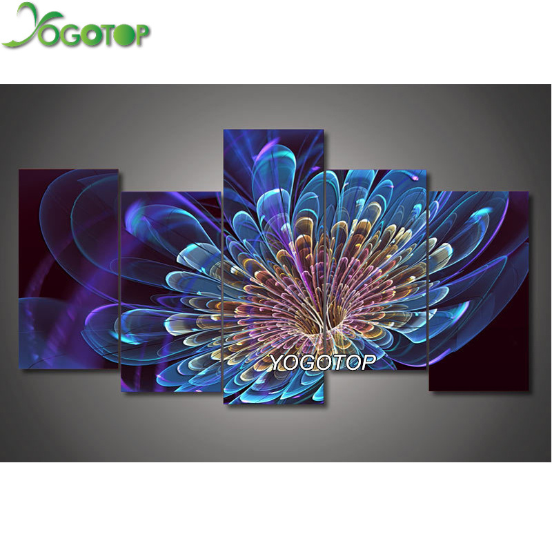 Yogotop diy 5d diamante pittura a punto croce piena ricamo diamante 5d diamante mosaico home decor colorful flower 5 pz/set ml031