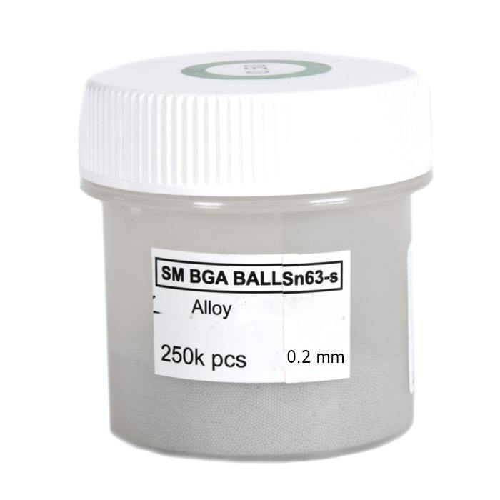 Solder balls for BGA 0.2mm 250k, Lead free [randomtext category=