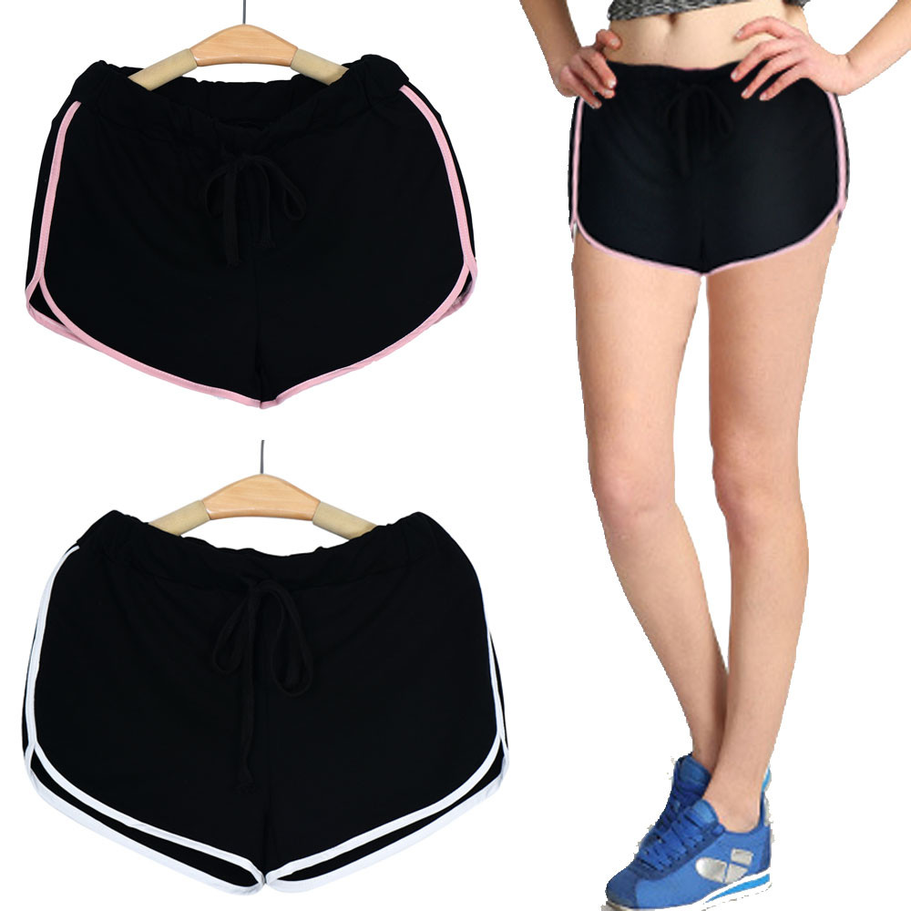 Womail Brand Lowest Price Swimwear Women Women Cotton Sports Shorts Binding Side Elastic Waist Running Shorts Pants
