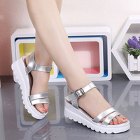 Summer Shoes Plus Size 41 43 Flat Sandals 2017 New Korean Thick Bottom Sandals Female Students