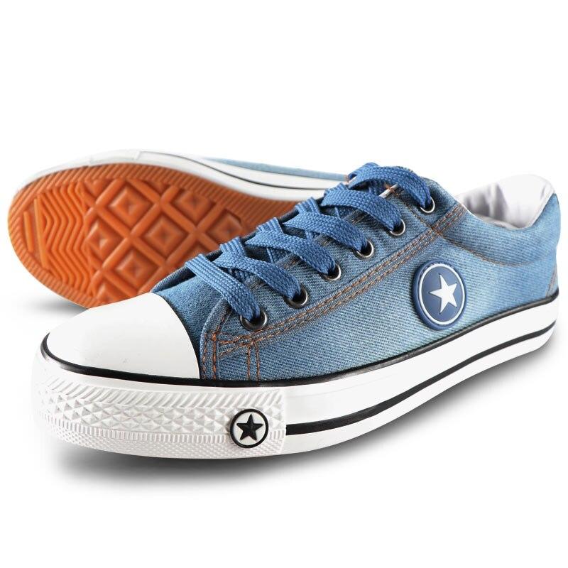 Image 4 - Мужская повседневная обувь, летние кроссовки из джинсовой ткани, Модные дышащие кроссовки на плоской подошве со шнуровкой, вулканизированные кроссовки, Chaussure hommesПовседневная обувь   -
