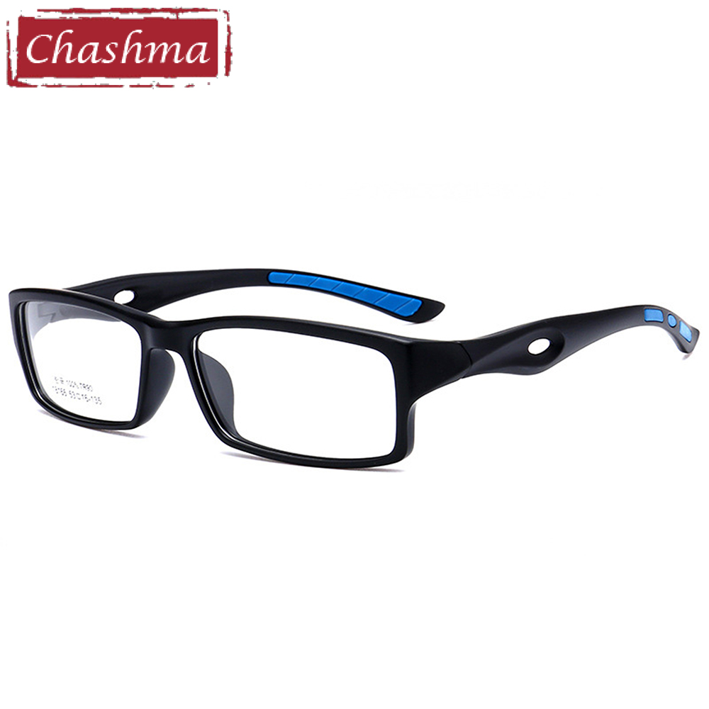 Chashma TR90 Sport Full Frame Eyewear Ultra Light Kvalitet Myopi Eye Glasses Frames Herre Mote Sport Glasses Frames Female