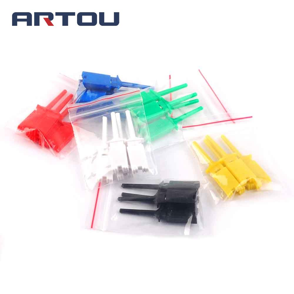 24pcs Test Hooks Clips For Logic Analyzers Logic Test Clip 6 Colors: Red Black Yellow Green Blue White