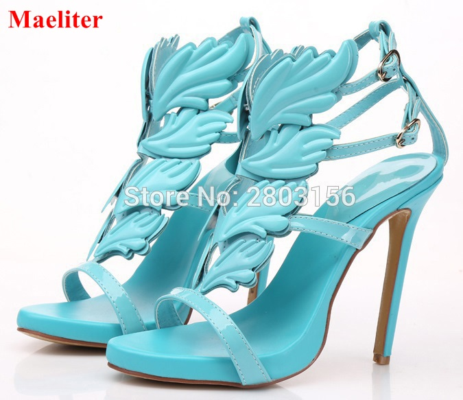 New summer peep toe ankle strap women shoes high heel	cut outs sandals fashion Lady stiletto heel party dress shoes for women wholesale lttl new spring summer high heels shoes stiletto heel flock pointed toe sandals fashion ankle straps women party shoes