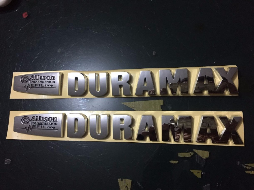 Efi Live Duramax >> Us 31 35 5 Off 2 New Pair Chrome Duramax Diesel Allison Efi Live Lml Style 2500hd 3500hd Badges In Automotive Interior Stickers From Automobiles