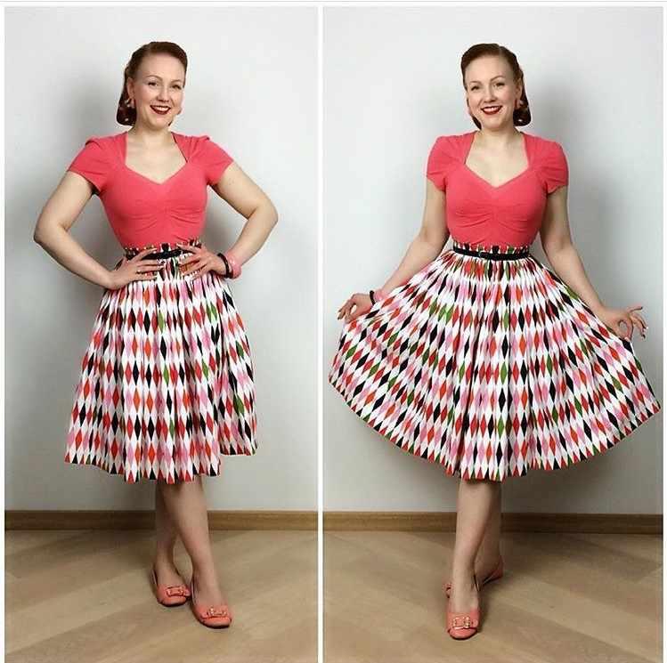 cb8b0fdca51 35- women 50s inspired vintage harlequin print midi swing jenny skirt  rockabilly pinup retro skirts