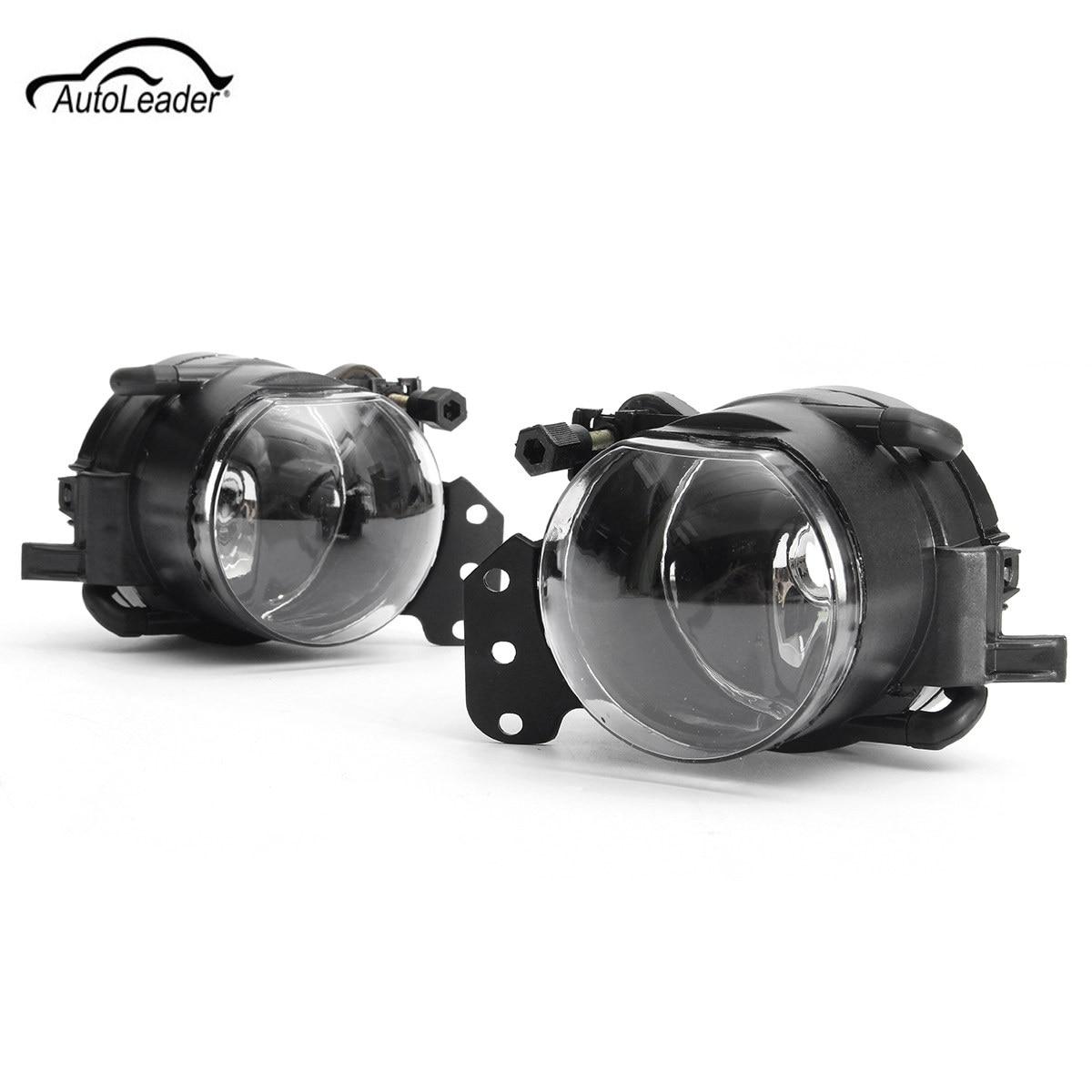 2Pcs Car Front Fog Lights Lamps Housing Lens Clear For BMW E60 E90 E63 E46 323i 325i 525i защитные аксессуары car pakistan bmw alpina