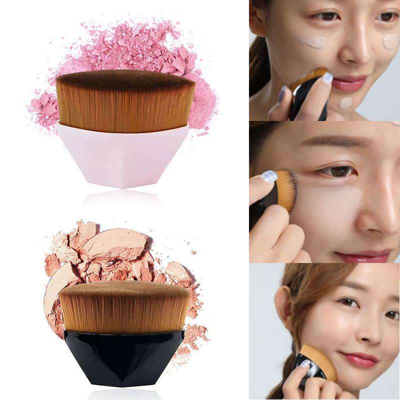 Hot Single Six Corners Powder Makeup Brushes Diamond Cosmetic Hexagon No Trace Foundation Brush Silicone Make Up Brushes