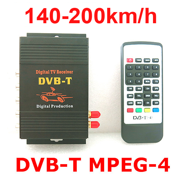 ФОТО 140-200km/h DVB-T Car MPEG-4 HD Two Chip Tuner Two Antenna DVB T Digital Car TV Tuner Receiver