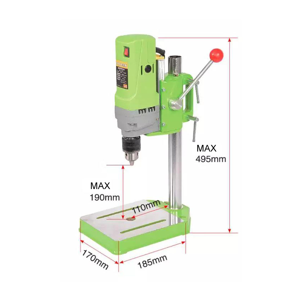 AMYAMY Mini bohrmaschine Bohrmaschine Bank Kleine elektrische Bohrer Maschine Werkbank getriebe stick 220V 710W EU stecker 5156E