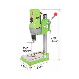 Image 3 - AMYAMY מיני מכונת קידוח מקדחת עיתונות ספסל קטן חשמלי תרגיל מכונת עבודת ספסל ציוד כונן 220V 710W האיחוד האירופי תקע 5156E