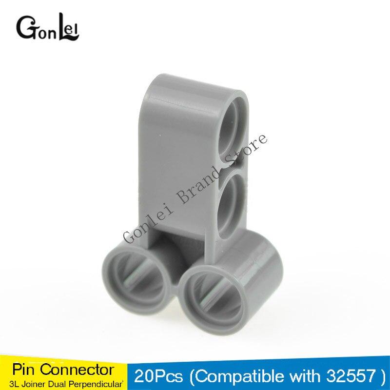 1x  Lego Technic 32557 Pin Connector Perpendicular Long dark gray