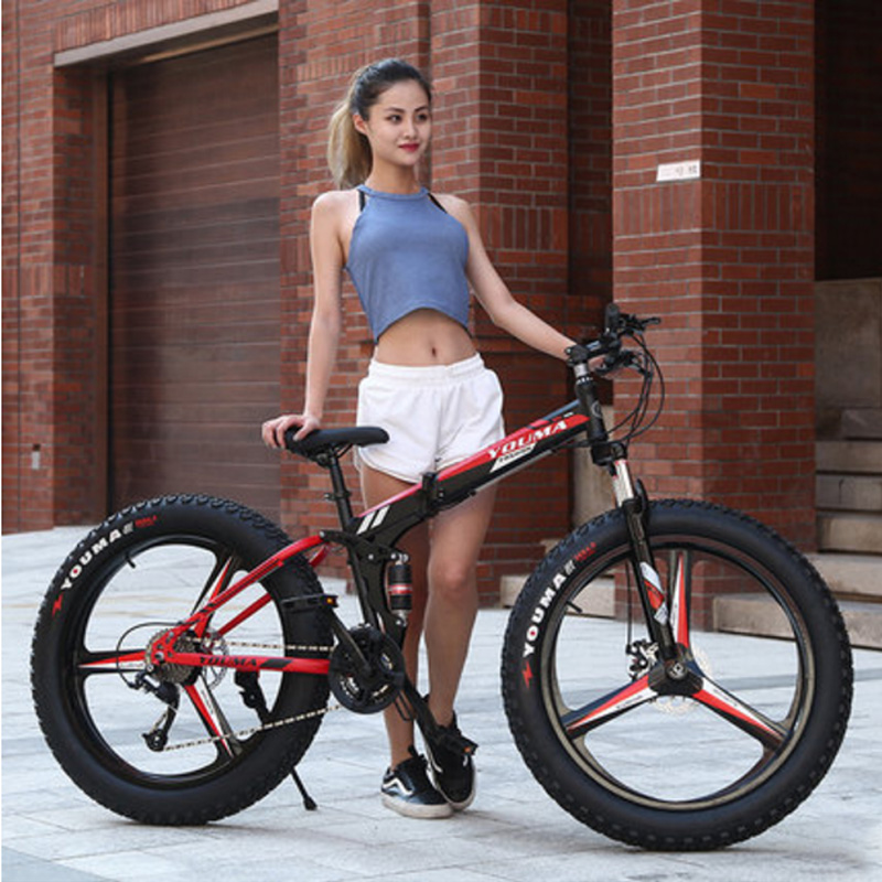 Beach Mountain Bicycle 26 Inch Double Disc Brake Multicolor Optional Adult