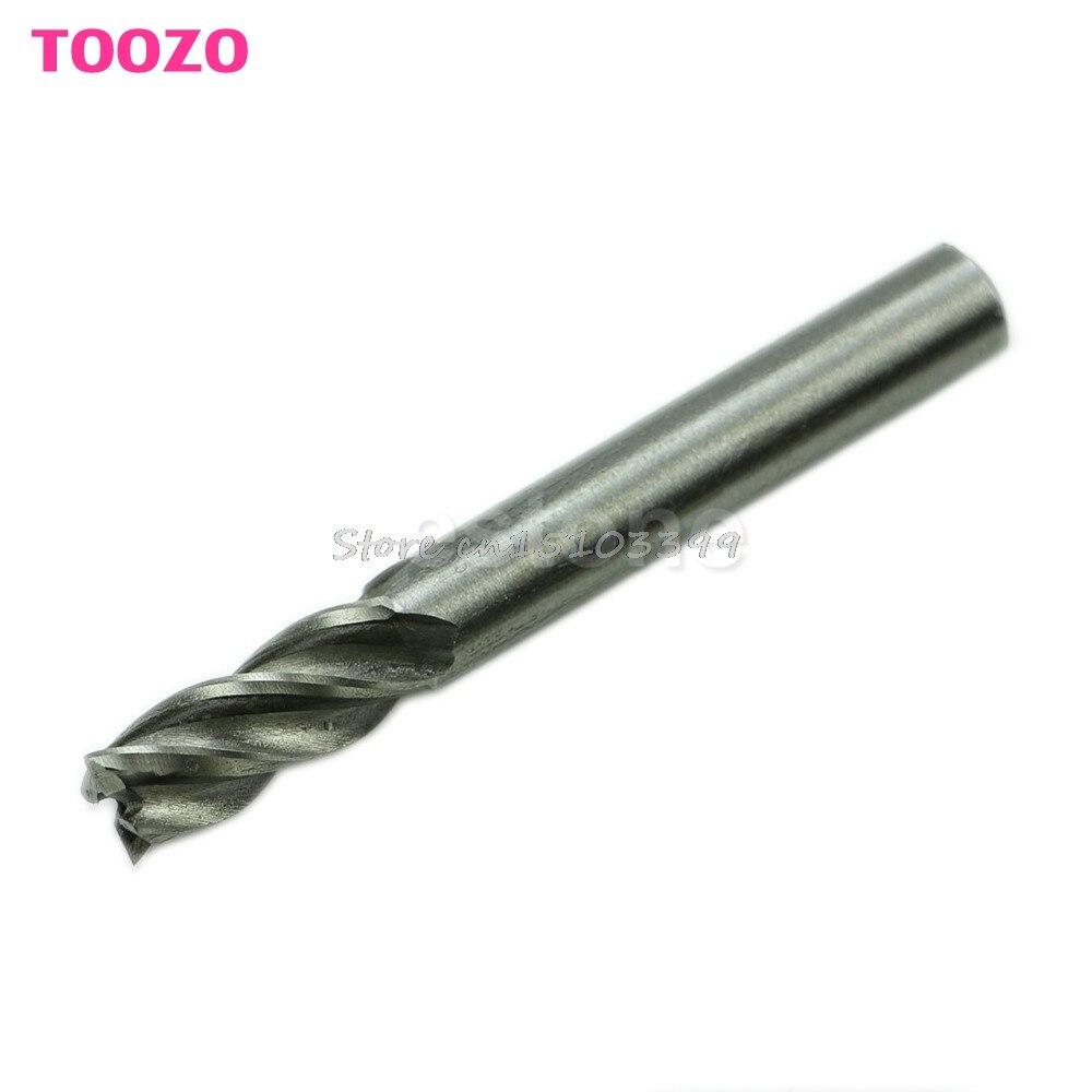 HSS CNC Straight Shank 4 Flute End Mill Cutter Drill Bit Tool 8mm #G205M# Best Quality 10pcs lot 4 flute hss end mill straight shank drill bit sets for cnc milling cutter tool 1 5 10mm