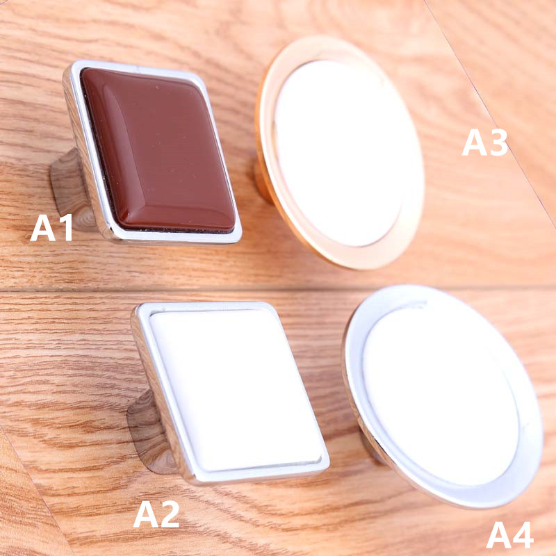 modern simple fashion silver golden furniture knobs white coffee drawer cabinet dresser knobs pulls handles  square handles gztophid made in japan denso ballast d4s d4r xenon ballast