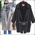 Winter Women Kintted Cardigan Long Sleeve Wool Coat Jacket Loose Coat Lady Lapel Knit Sweater Outwear Clothes
