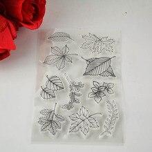 Скрапбукинг/карты/новогоднее decora изготовление листья штамп украшение поставки прозрачный diy шт.