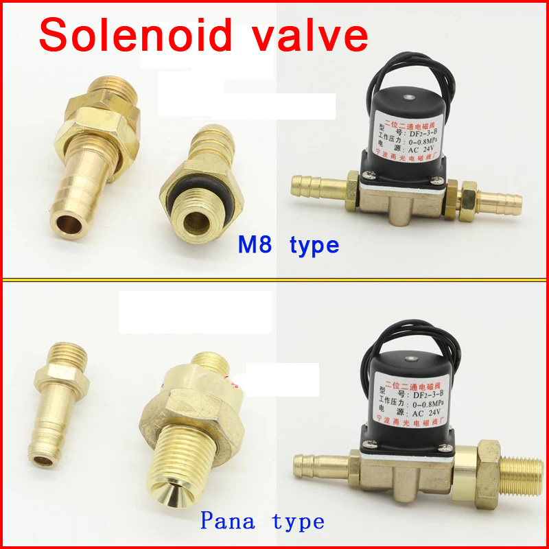 Solenoid Valve DF2-3-B DC24V,AC36V, AC220V Two-position two-way for co2 gas ,argon gas welding machine argon arc welding plasma carbon dioxide co2 gas shielded welding machine solenoid valve copper coils
