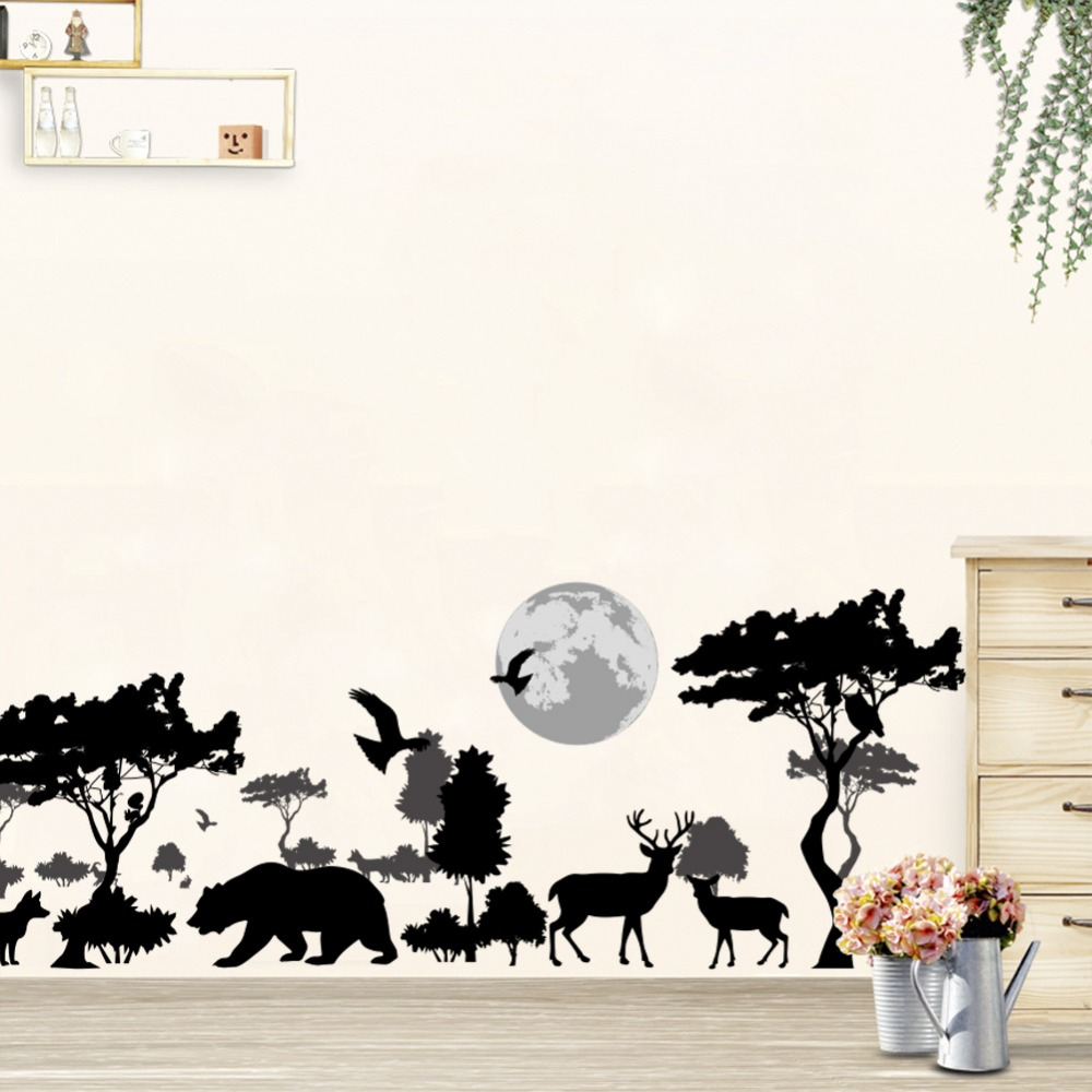 2018 натуральная для плитки Неймар Лидер продаж Мода животных стены Стикеры s Papercut Стиль Стикеры Гостиная Наклейка Декор Съемный Плакат