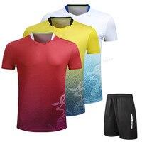 Adsmoney China Dragon Pattern Top Quality Badminton Jerseys Men Women Training T-Shirts Badminton Shirts Cloth For Children