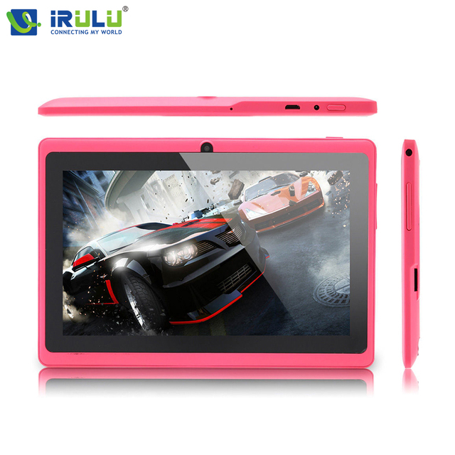 Irulu expro x1 7 дюймов таблетки android 4.4 quad core 8 ГБ rom две камеры hd экран wifi otg игры