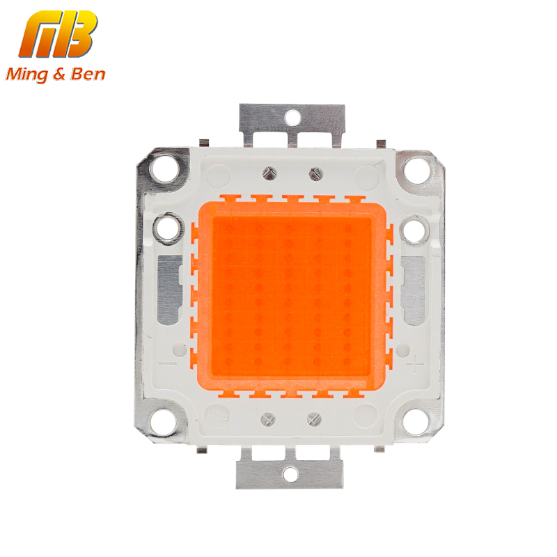 [MingBen] High Power LED vekstlys Full spektrum 380Nm-780Nm 10W 20W 30W 50W Integrert Matrix Palnt voksende lampe Trenger driver