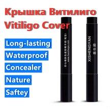 Vitiligo Covering Waterproof Concealer Pen Hide Women Men Kids Skin White Patch Loss Colour on Face Arm Body Instant Makeup 2PCS
