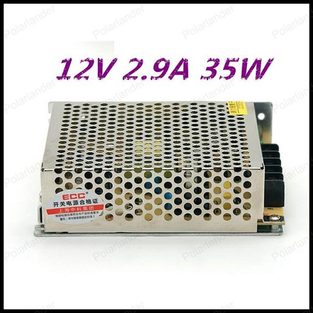 La mejor calidad 35 W 12 V 2.9A Conmutación Controlador de fuente de Alimentación para la Tira del LED de la CA 100-220 V de Entrada para DC 12 V envío gratis