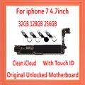 32 ГБ/128 ГБ/256 ГБ для iphone 7 материнская плата без Touch ID/с Touch ID  100% оригинальная разблокированная для iphone 7 логическая плата