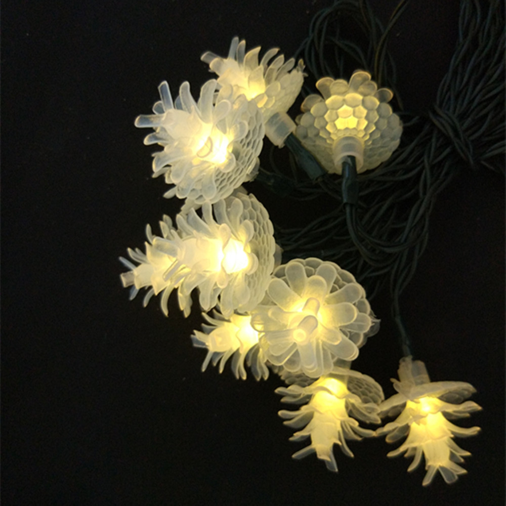 YIYANG Solar Pine Cone Led String lights Christmas Tree Holiday Decoration Lighting Indoor Outdoor Fairy Light Solarie Cono Pino