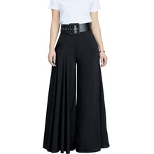 купить Women Pleated Wide Leg Pants High Waisted Trousers Elegant Office Work Wear Ladies Casual Loose Palazzo Pant Long Pantalon Femme дешево