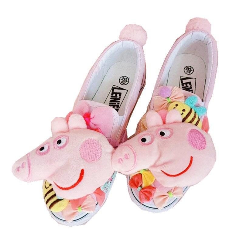 Las Versión Coreana Un Primavera De Lona Pedal Cerdo La Dulce Tendencia Perezoso Arco Rosa Zapatos Mujeres wURAw6q