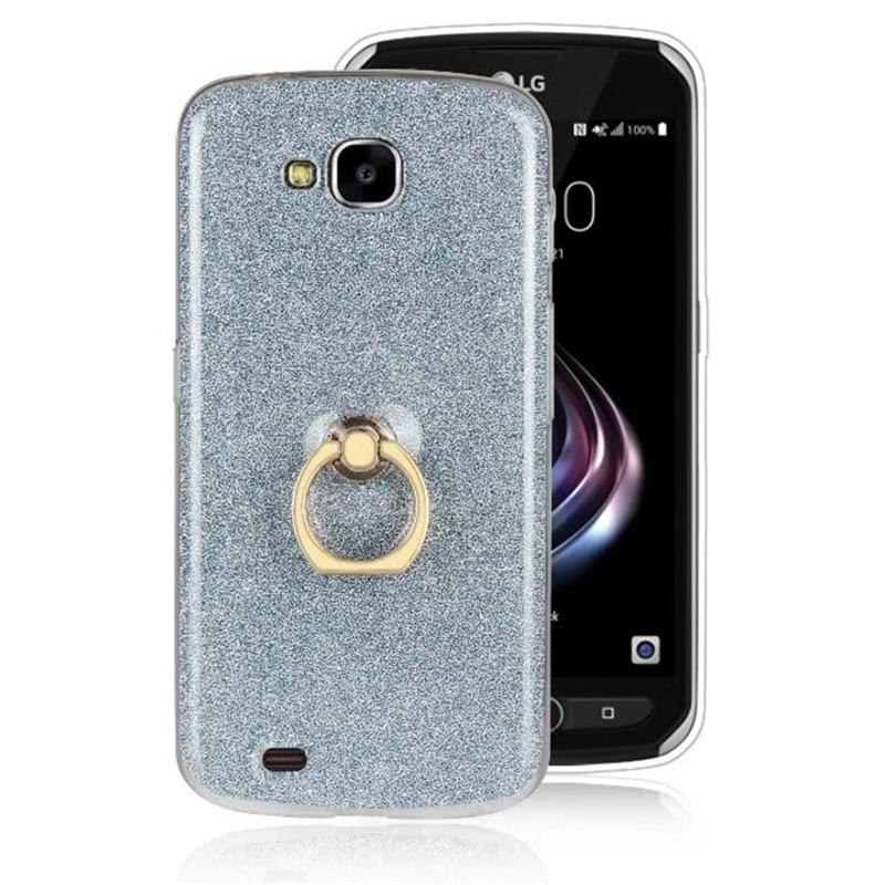 US $2 72 30% OFF Glitter Bling Stent Flash With Ring Transparent TPU Case  For LG V30 V20 V10 V9 V7 Case Protection Back Cover Fundas Coque Capa-in