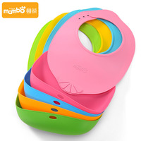 Super Soft Two Way Use BPA Free Silicone Adjust Bib Utensils Infant Toddler Silicone Baby Waterproof