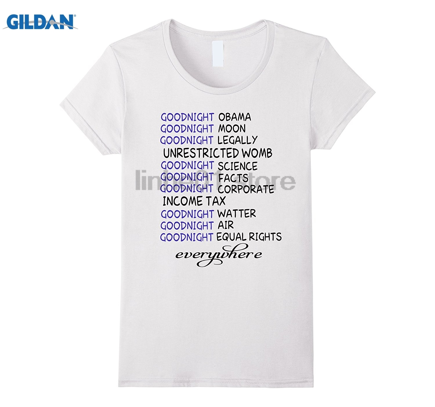 GILDAN Goodnight Air Goodnight Equal rights Everywhere T-Shirt Mothers Day Ms. T-shirt glasses Womens T-shirt