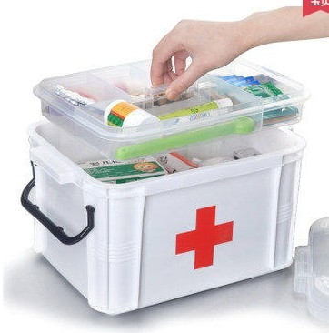 household plastic health care first aid kit child small medicine box in storage boxes bins. Black Bedroom Furniture Sets. Home Design Ideas