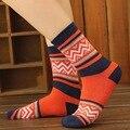 Patrón de onda en moda de corea del sur calcetines toalla calcetines de algodón ocks caliente