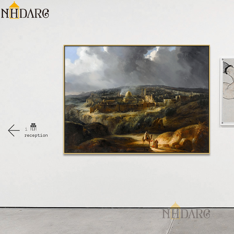 Auguste Forbin Jerusalem Seen From Mount Josaphat Posters And Prints Canvas Art Painting Wall Picture For Living Room Home Decor
