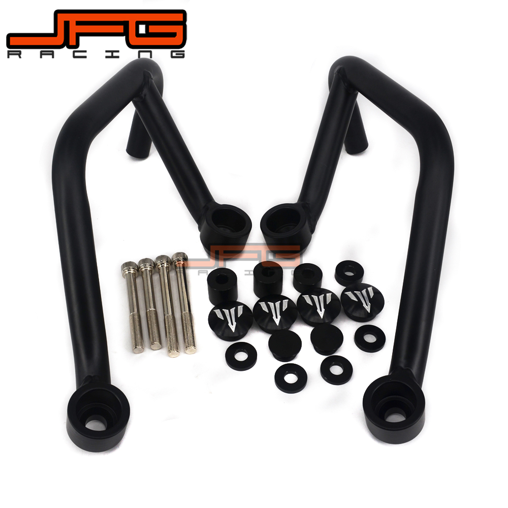 Engine Bumper Guard Crash Bars Protector Steel For YAMAHA MT09 MT-09 FZ07 FZ-09 2014-2016 2014 2015 2016 Motorcycle engine bumper guard crash bars protector steel for yamaha mt09 mt 09 fz07 fz 09 2014 2016 2014 2015 2016 motorcycle