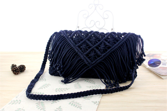 Tassel Straw Bag Large...