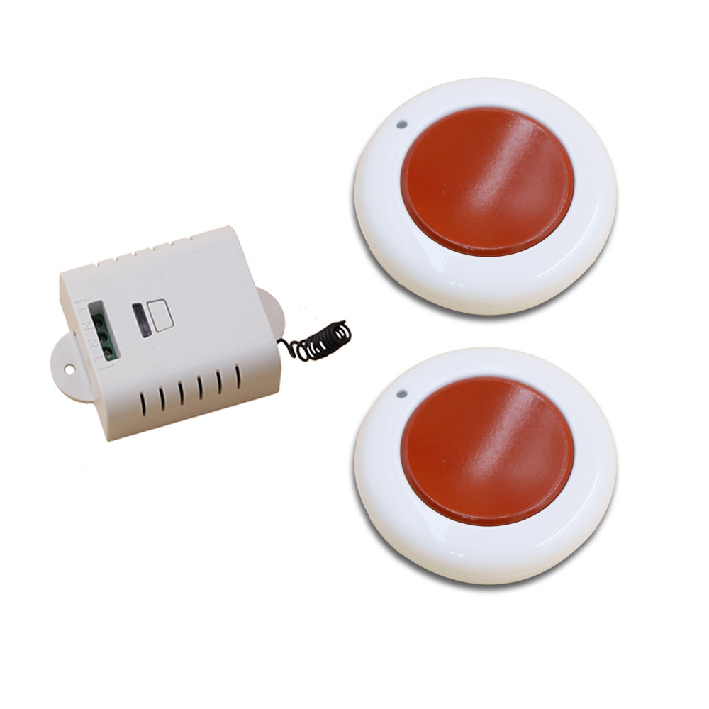 White and Red Wireless Remote Control Switch System 2 Transmitter & 1 Receiver Relay Receiver Smart Home Switch with Cover wireless pager system 433 92mhz wireless restaurant table buzzer with monitor and watch receiver 3 display 42 call button