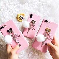 Mooie Meisje Roze 3D Sailor Moon Toverstaf Zachte Siliconen & Plastic Mobiele telefoon Gevallen Voor iPhoneX 8 8 Plus 7 7 Plus 6 6 S 6 Plus Cover